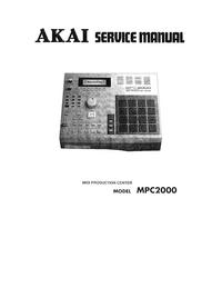 Manual de servicio Akai MPC2000