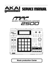Manual de servicio Akai MPC 2500