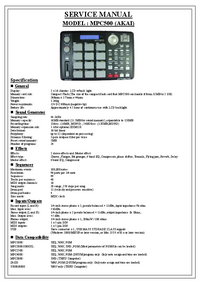 Manual de servicio Akai MPC500