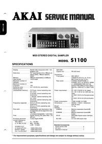 Manual de servicio Akai S1100