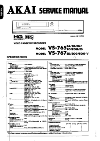 Service Manual Akai VS-767