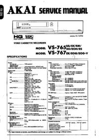Manuale di servizio Akai VS-767