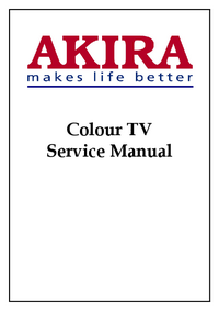 manuel de réparation Akira CT-21TF9C