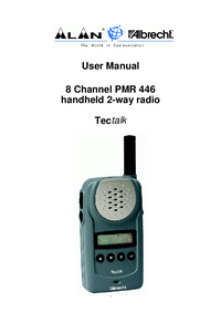 User Manual Albrecht PMR 446