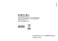 User Manual Alinco DJ-A41