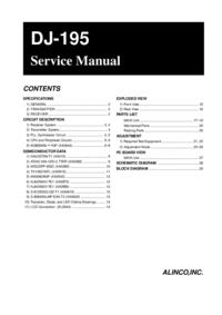 Servicehandboek Alinco DJ-195