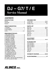 Service Manual Alinco DJ-G7E