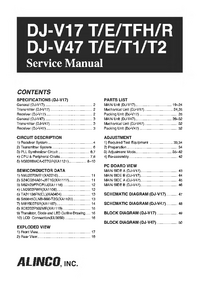 Manual de servicio Alinco DJ-V47 T1