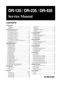Руководство по техническому обслуживанию Alinco DR-435