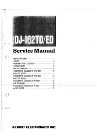 Service Manual Alinco DJ-162TD