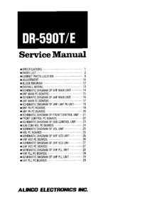Manual de servicio Alinco DR590E