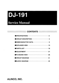 Service Manual Alinco DJ-191