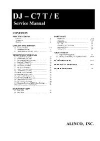 Manuale di servizio Alinco DJ-C7 E