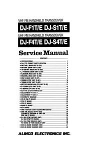 Manuale di servizio Alinco DJ-F1T