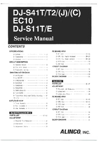 Service Manual Alinco DJ-S11T