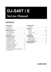 Manuale di servizio Alinco DJ-S40T / E
