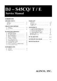 Servicehandboek Alinco DJ - S45CT