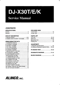 Service Manual Alinco DJ-X30E