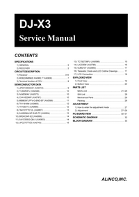Service Manual Alinco DJ-X3