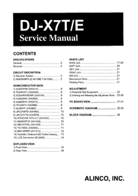 Manual de servicio Alinco DJ-X7T