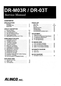 Manual de servicio Alinco DR-03T