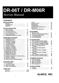 Service Manual Alinco DR-M06R
