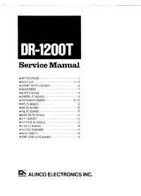Manual de servicio Alinco DR-1200T