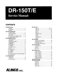 Service Manual Alinco DR-150E
