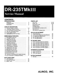 Service Manual Alinco DR-235TMkIII