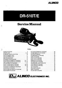 Manual de serviço Alinco DR-510T