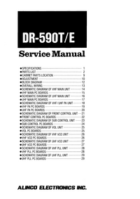 Service Manual Alinco DR-590E