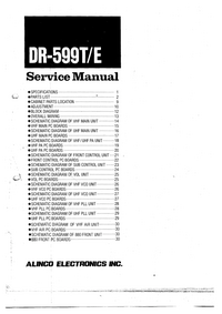 Service Manual Alinco DR-599E