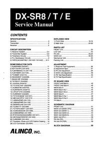 Servicehandboek Alinco DX-SR8