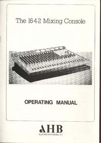 User Manual with schematics Allen 16.4.2