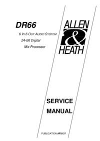 manuel de réparation Allen DR66