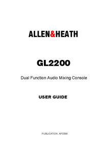 User Manual Allen GL2200