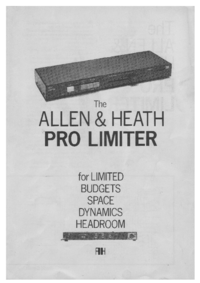 Service and User Manual Allen Pro Limiter