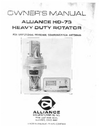 Manual del usuario Alliance HD-73