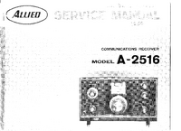 Service and User Manual AlliedRadio A-2516