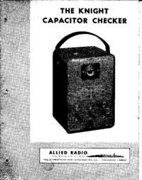 Service-en gebruikershandleiding AlliedRadio Knight Capacitor Checker