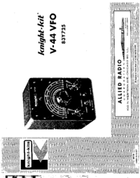 Service and User Manual AlliedRadio V-44 VFO