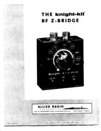Service- und Bedienungsanleitung AlliedRadio Knight RF Z Bridge