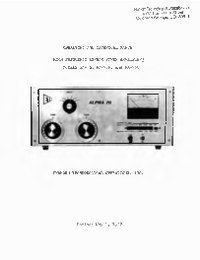 Servicio y Manual del usuario Alpha Alpha PA-76