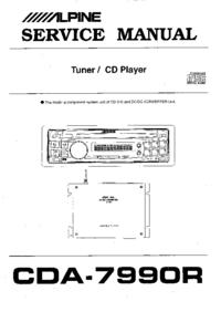 Manual de serviço Alpine CDA-7990R