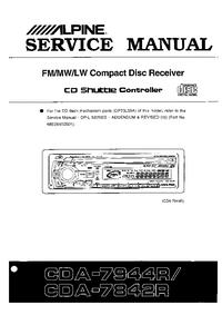 Manual de servicio Alpine CDA-7842R