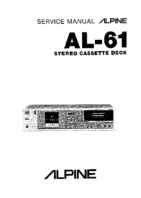 Service Manual Alpine AL61