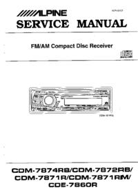 Manual de servicio Alpine CDM7871RM