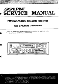 Service Manual Alpine CDA-9835R