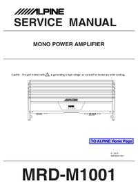 Serviceanleitung Alpine MRD-M1001