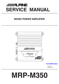 Service Manual Alpine MRP-M350